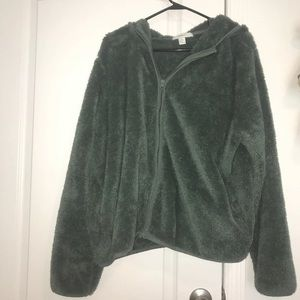 Plus Size Forever 21 Sherpa Hoodie